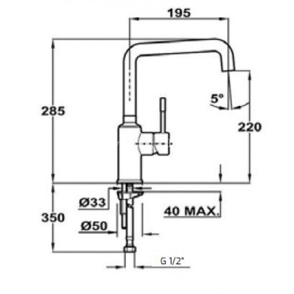 Vòi rửa TEKA FRAME 9150
