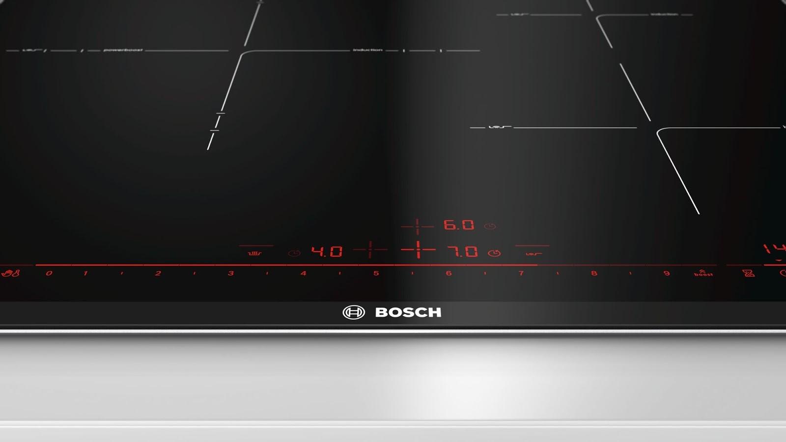 Bàn phím LED dạng ẩn chỉ hiện lên khi mở nút nguồn của Bosch PID675DC1E