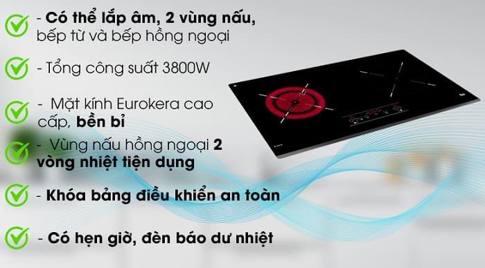 Ưu điểm nổi bật của bếp điện từTEKA IZ 7200 HL