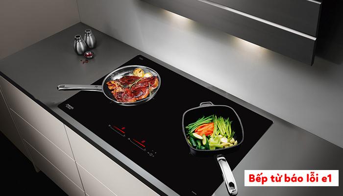 Bếp từ Bosch PUC631BB2E báo lỗi E1