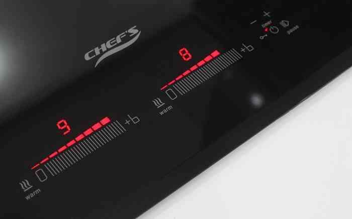 Sử dụng bếp từ đôi Chefs EH-DIH888 bằng bảng điều khiển cảm ứng trượt dễ dàng
