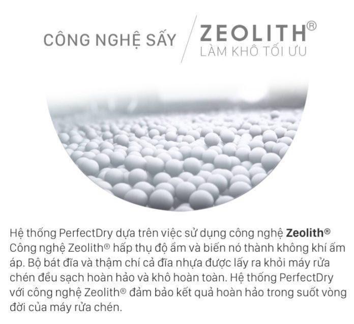 Bosch Serie 6 được ứng dụng công nghệ sấy Zeolit