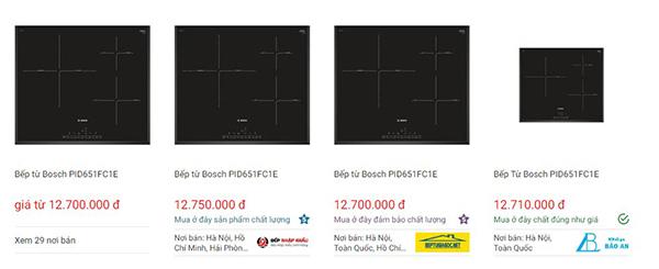 Giá bếp từ Bosch PID651FC1E trên websosanh