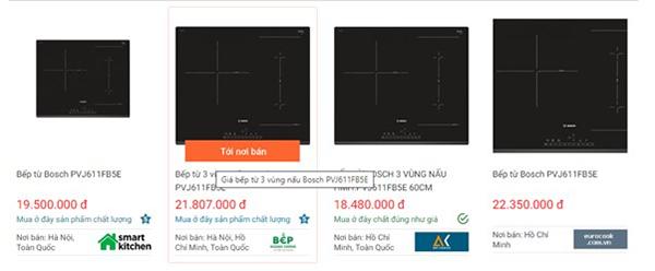 Giá bếp từ Bosch PVJ611FB5E trên websosanh