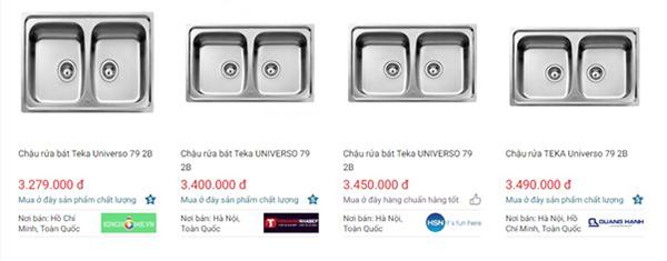Giá của chậu rửa TEKA UNIVERSO 2B 79 trên websosanh