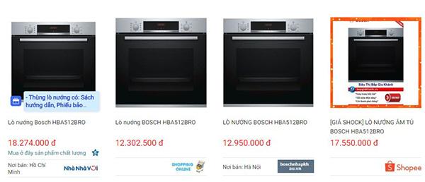 Lò nướng Bosch HBA512BRO
