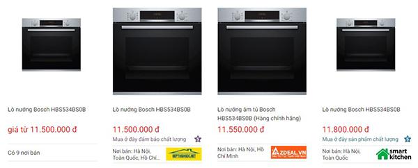 Lò nướng Bosch HBS534BS0B