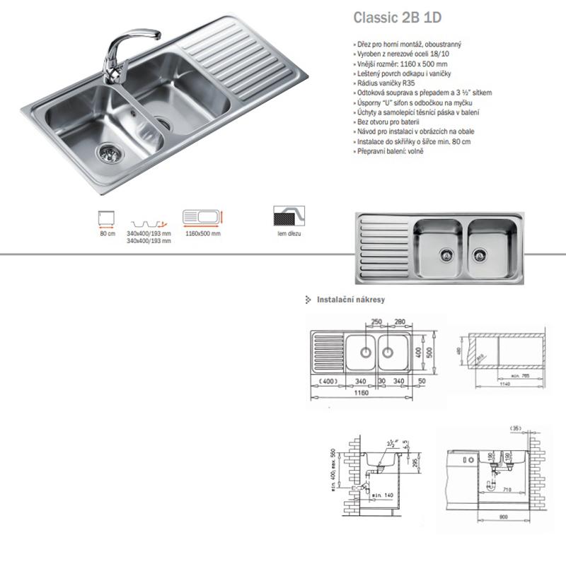 Chậu rửa Teka Classic 2B 1D0