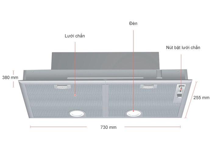 Đèn chiếu sáng máy hút mùi Bosch DHL755BL