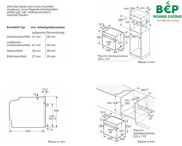 Hướng dẫn sử dụng lò nướng BOSCH HBG634BB1