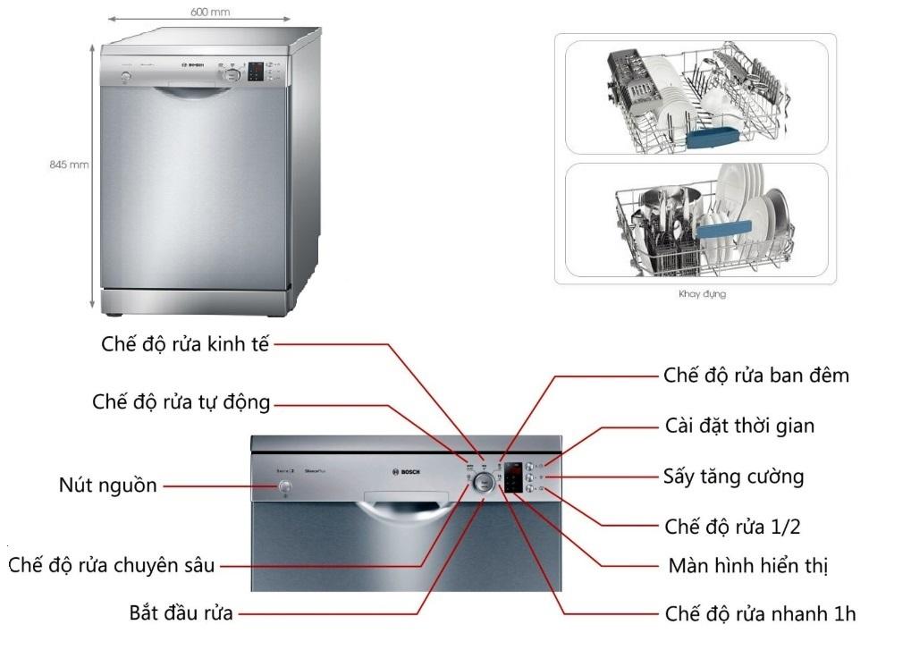 Bí quyết sửa máy rửa bát Bosch SMS25KI00E tại nhà đơn giản May-rua-bat-Bosch-SMS25KI00E-duoc-thiet-ke-voi-kich-thuoc-vua-van-phu-hop-voi-moi-khong-gian-bep
