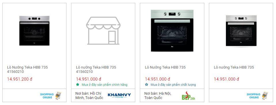 Giá bán lò nướng TEKA HBB 735 tốt nhất