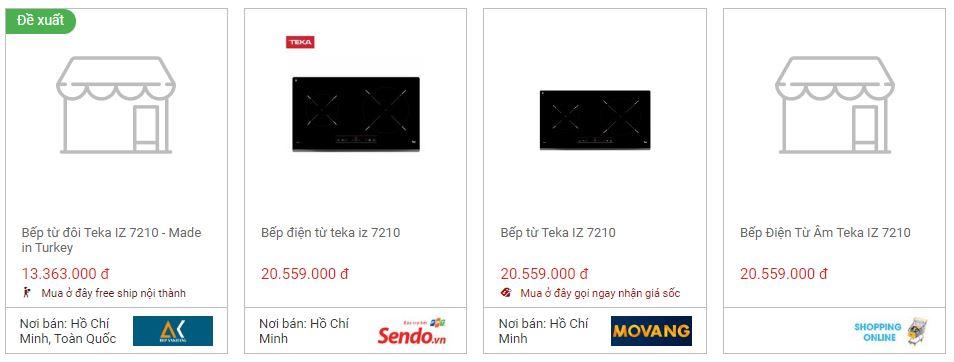 So sánh giá bếp từ Teka IZ 7210