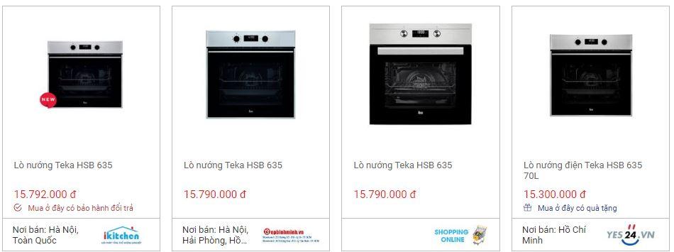 So sánh giá lò nướng Teka HSB 635