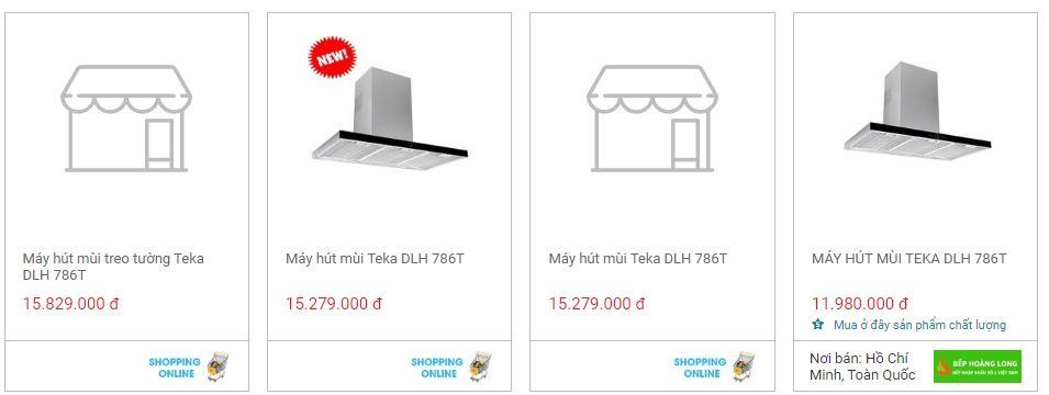 So sánh giá máy hút mùi Teka DLH 786T