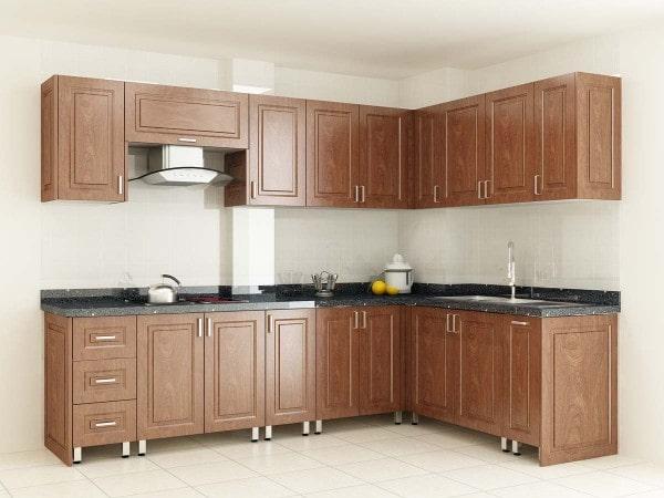 Tủ bếp Sở hữu sức hút thẩm mỹ sang trọng đầy ấm cúng