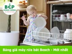Bảng giá máy rửa bát bosch - cập nhật mới 2020