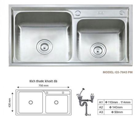 Chậu rửa bát Giovani GS – 7845 PM