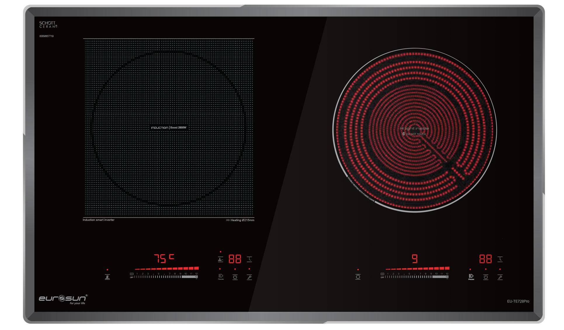 Bếp điện từ đôi Eurosun EU-TE728Pro sẽ là sự lựa chọn tuyệt vời cho căn bếp nhà bạn