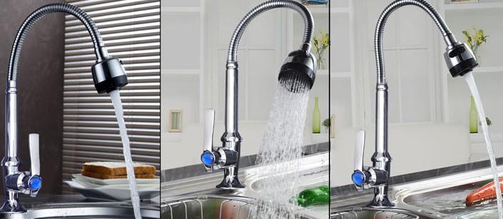 Một số kiểu dáng vòi rửa bát hiện nay