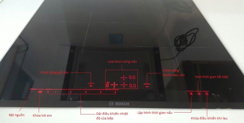 Bảng điều khiển Bosch PID675DC1E thiết kế dễ dàng sử dụng