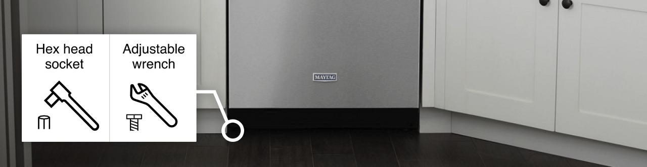 Kiểm tra máy rửa bát xem có cân đối trước sau