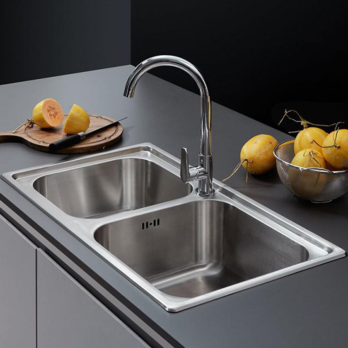 Chậu rửa chén inox 304 Malloca MS 2076E0