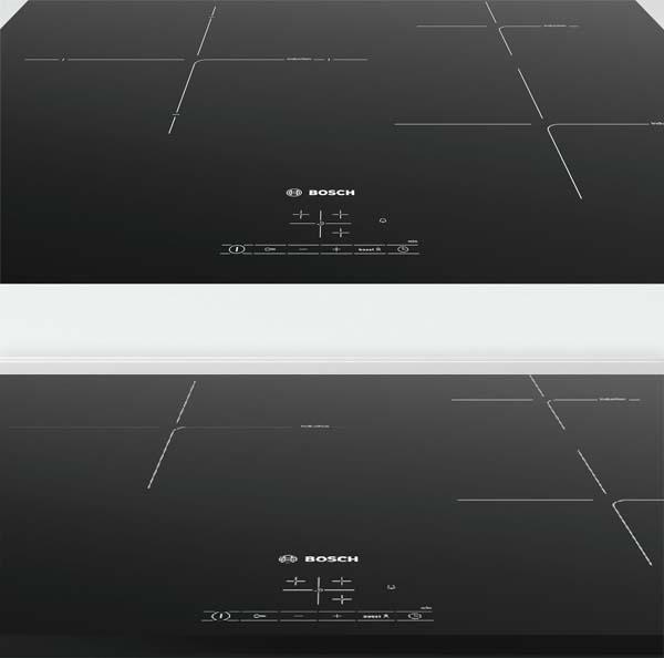 So sánh vùng nấu bếp từ Bosch PUJ611BB1E và PUC631BB2E