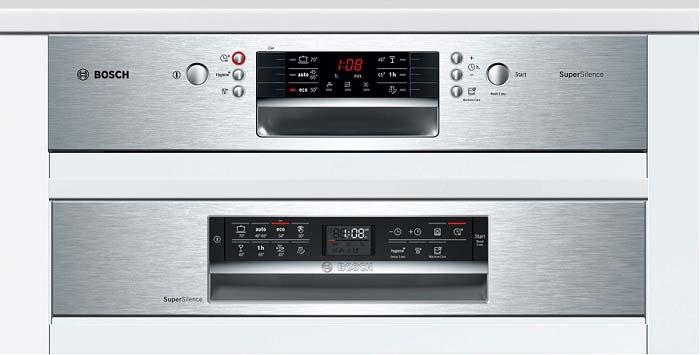 Chọn chức năng rửa tráng Pre-Rinse trên bảng điều khiển máy rửa bát