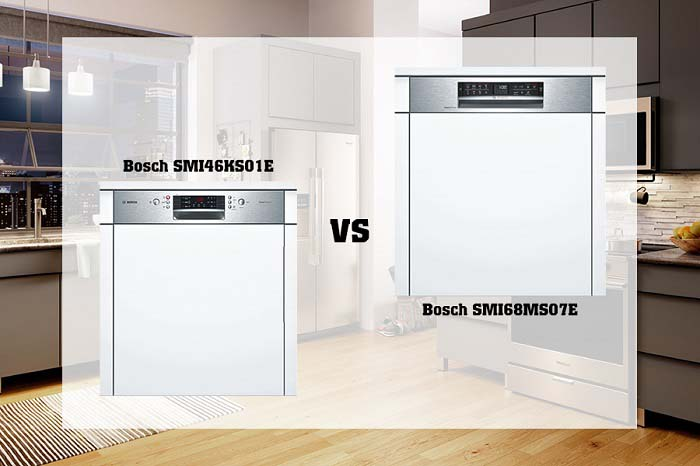 So sánh máy rửa bát Bosch SMI46KS01E và Bosch SMI68MS07E