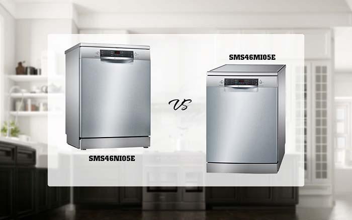 So sánh máy rửa bát Bosch SMS46MI05E và Bosch SMS46NI05E
