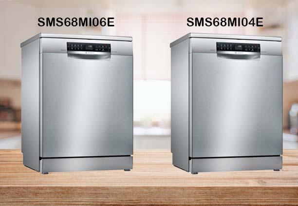 So sánh máy rửa bát Bosch SMS68MI06E và SMS68MI04E