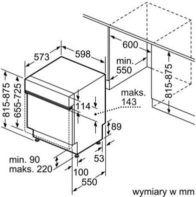 Thông số chi tiết của máy rửa bát Bosch SMI46KS01E