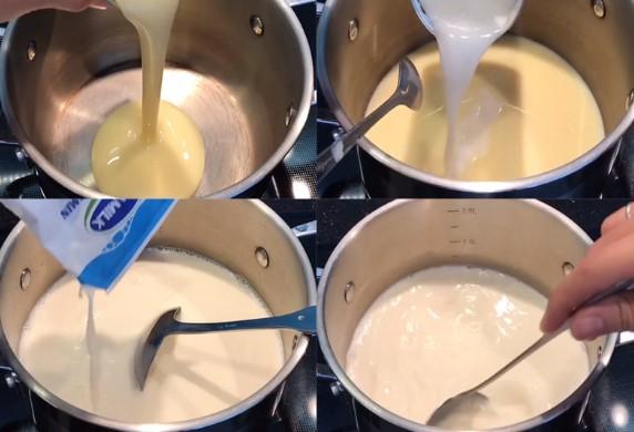 Trộn hỗn hợp sữa tươi