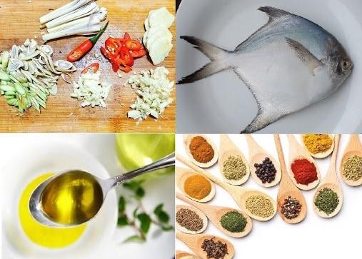 Các nguyên liệu làm món cá nướng
