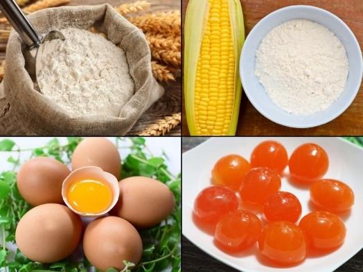 Nguyên liệu làm bông lan trứng muối