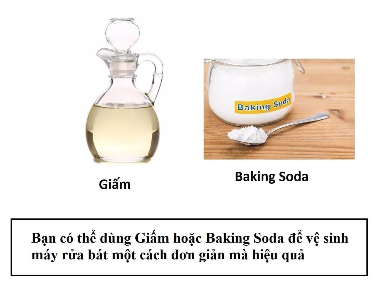 Giấm và Baking Soda giúp vệ sinh máy rửa bát vô cùng hiệu quả