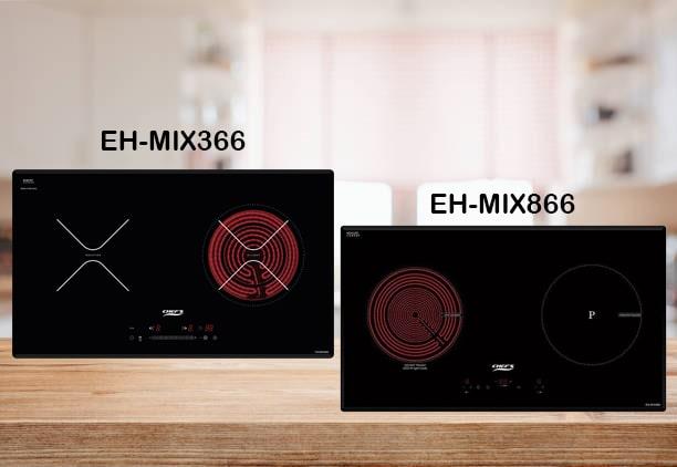 So sánh bếp điện từ Chefs EH-MIX366 và EH-MIX866