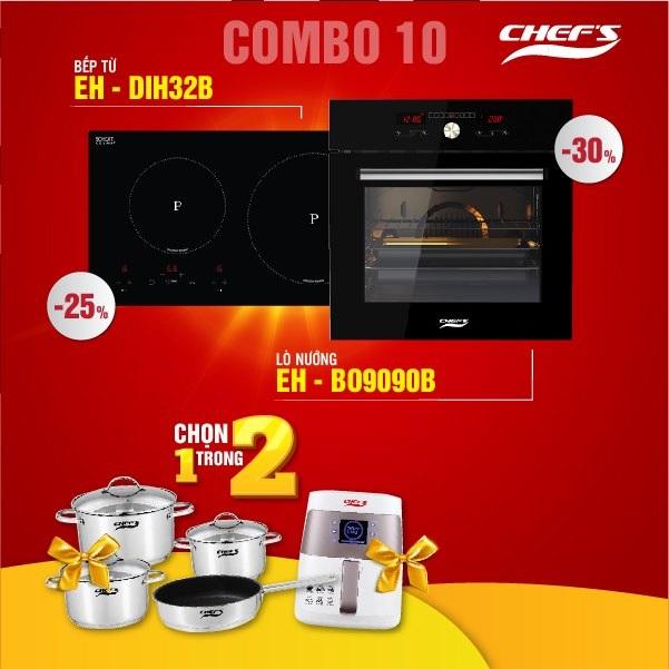 Khuyễn mãi 30/4 1/5 giảm giá 30% combo thiết bị nhà bếp