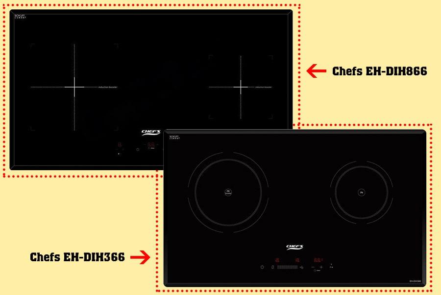 So sánh bếp từ Chefs EH-DIH366 và Chefs EH-DIH866