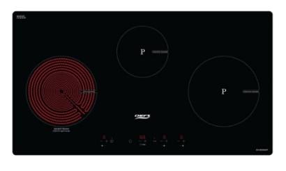 Hình ảnh bếp hỗn hợp 3 từ Chefs EH-MIX544P