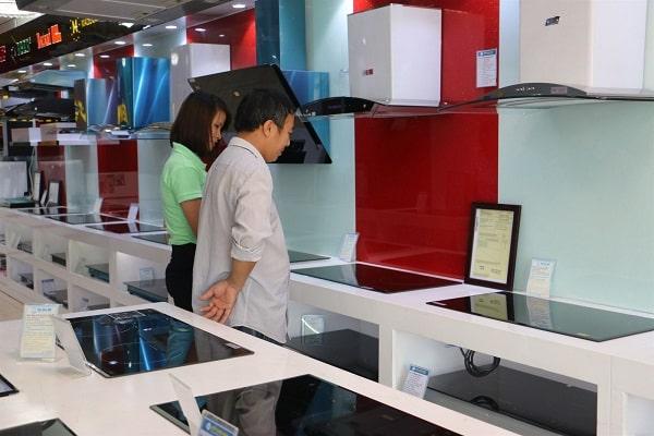 Ảnh showroom trưng bày sản phẩm của Bếp Hoàng Cương