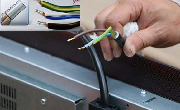 Kết nối nguồn điện với bếp từ HAFELE HC-M772B 536.01.815