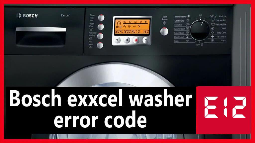 Lỗi E12 của máy rửa bát Bosch