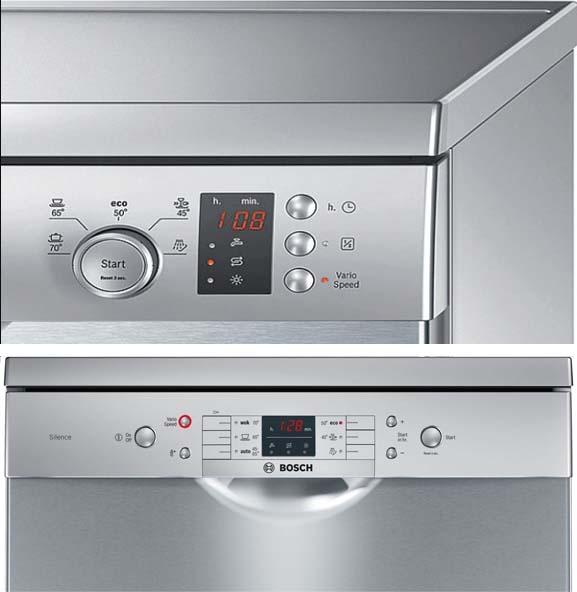 Bảng điều khiển máy rửa bát Bosch SMS63L08EA và SMS50E88EU