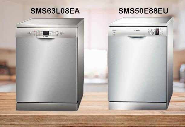 So sánh máy rửa bát Bosch SMS63L08EA và SMS50E88EU