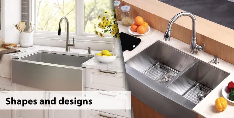 Kiểu dáng và thiết kế của chậu rửa bát cũng nên được coi trọng