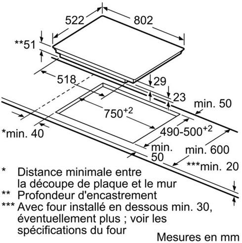 Thông số chi tiết của bếp từ Bosch PVS831FB5E