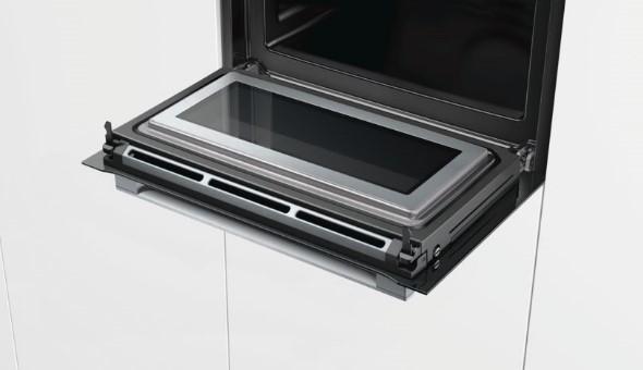 Cửa lò nướng Bosch CMG656BS6B 3 thiết kế dễ nhìn, tạo độ êm không gây tiếng ồn