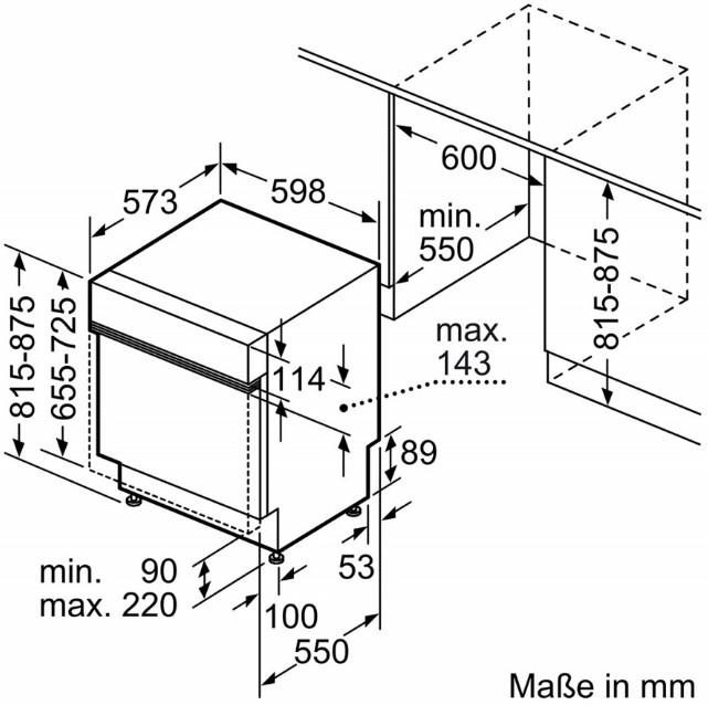 Thông số chi tiết của máy rửa bát Bosch SMI88US36E